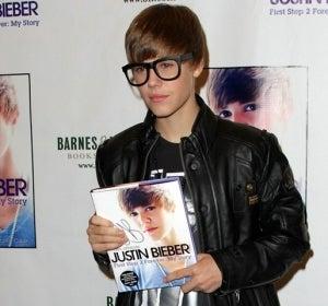 Justin Bieber, de gafapasta