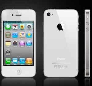 iPhone 4 en blanco