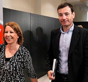 Tómas Gómez a su llegada al comité federal