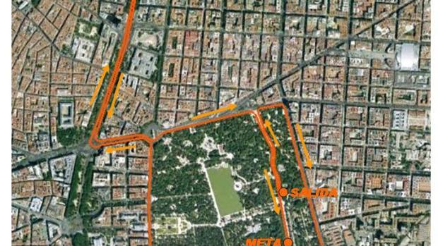 Plano circuito 10 km