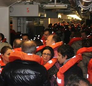 Pasajeros del 'Costa Concordia'