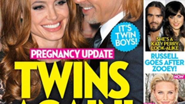 Brad Pitt y Angelina Jolie esperan gemelos