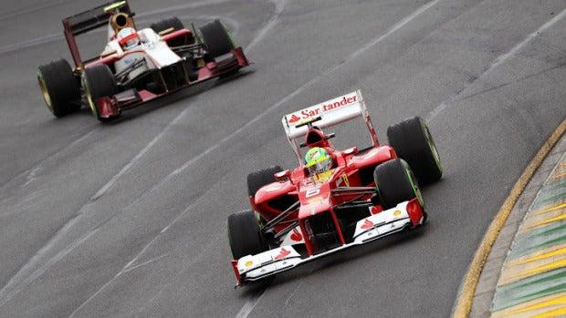 Felipe Massa en el circuito de Albert Park