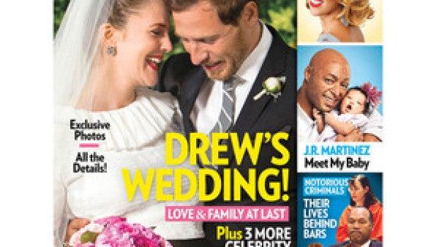 Portada people con la boda de Drew barrymore