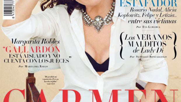 Carmen Martínez Bordiú en la portada de Vanity Fair.
