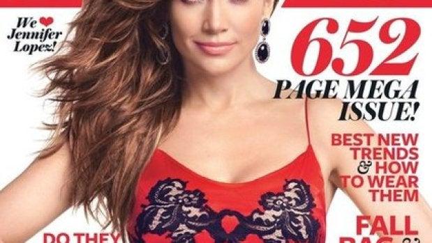 Jennifer Lopez en la portada de In Style