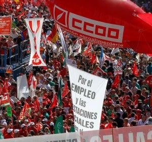 Momento de la manifestación en Madrid