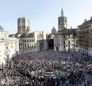 Manifestación por el accidente del metro de Valencia