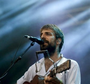 El guitarrista Manel, durante el concierto