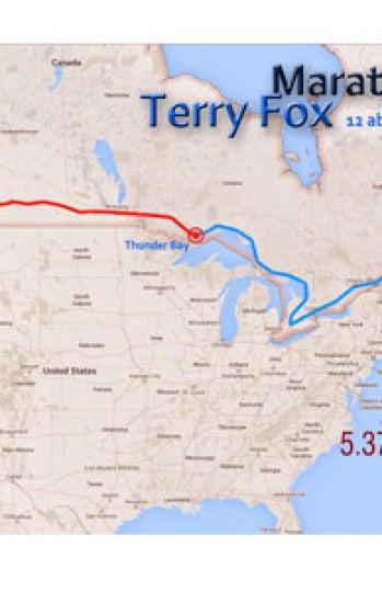 Mapa Maratón de la Esperanza