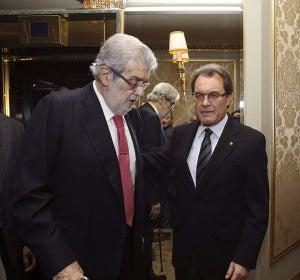 José Manuel Lara y Artur Mas en el día del Premio Nadal