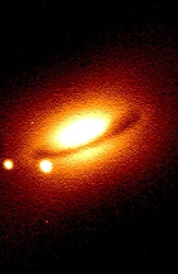 Imagen de la galaxia NGC4526 y la supernova SN 1994D obtenida por el telescopio Jacobus Kapteyn del ING
