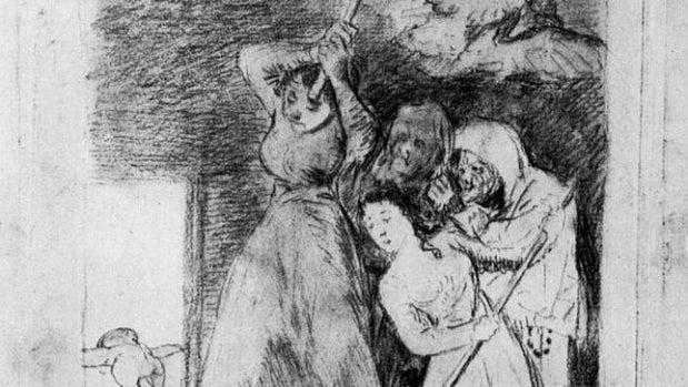 'Ya van desplumados', de 'Los Caprichos' de Goya.
