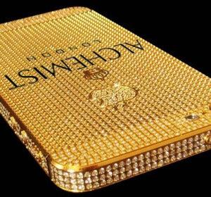 Parte trasera del iPhone del millón de dólares