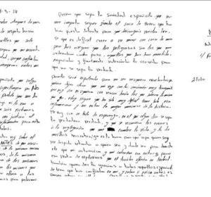 La carta enviada por Zouhier