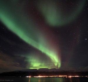 Aurora en Skibotn (Noruega)
