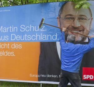 Un cartel del líder del Partido Socialista Europeo, Martin Schulz