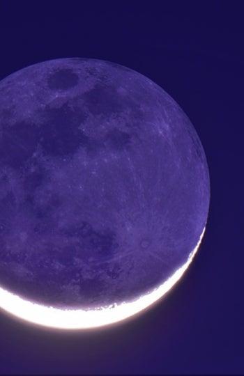 Imagen de la luz cenicienta de la Luna