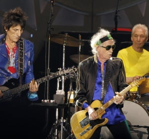 Keith Richards, Ron Wood y Charlie Watts