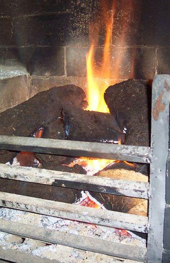 Turba usada como combustible
