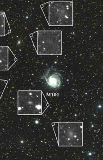 Siete galaxias enanas orbitan en torno a M101