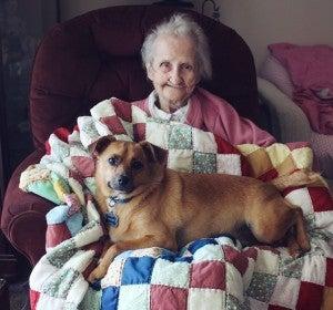 Betty y su perro