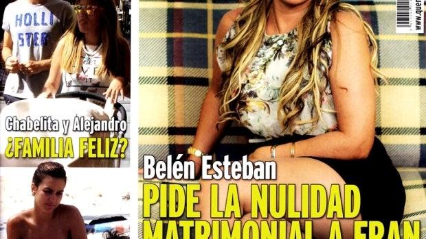 Megan Montaner haciendo topless en la portada de 'QMD'