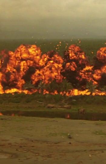 La explosión inicial de 'Apocalypse Now'