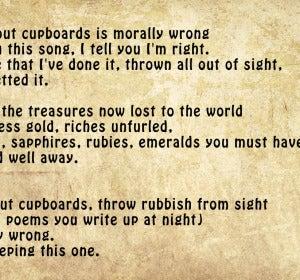 Uno de los poemas de Rosalía