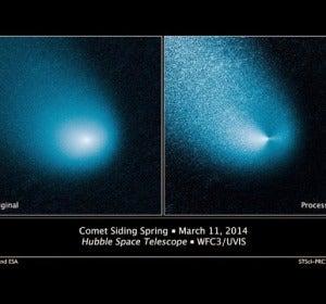 Aspecto del cometa Siding Spring