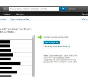 Eliminar contactos de LinkedIn