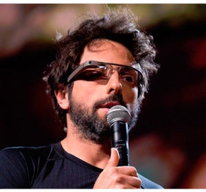 Sergey Brin con las Google Glass