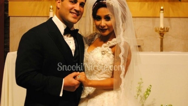 Jionni LaValle y Snooki, marido y mujer
