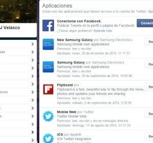 Permiso de las aplicaciones en Twitter