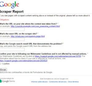 Reporte de Scraper de Google