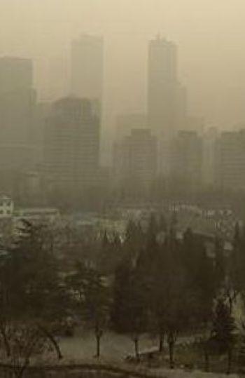 La ciudad de Pekin, afectada por la contaminación.