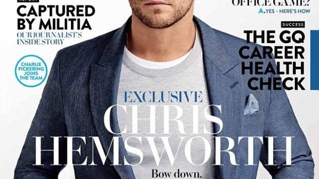 Portada de la revista GQ cuyo protagonista a Chris Hemsworth