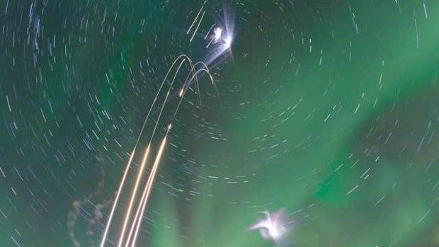 La NASA envía cohetes a una aurora boreal