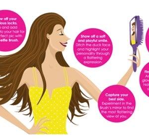 El selfie perfecto con un cepillo de pelo