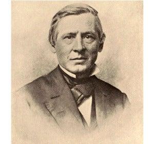El botánico estadounidense Asa Gray, antes de su viaje a Europa de 1868