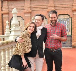 María León, Mariano Peña y Jon Plazaola