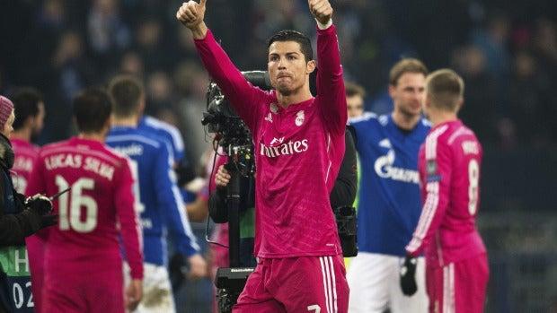 Cristiano Ronaldo, autor de un gol ante el Schalke