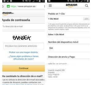 Compras con tu móvil en Amazon