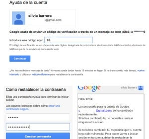 Cambio de contraseñas en Gmail