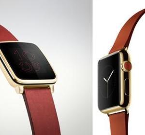 Comparación del Pebble y el Apple Watch