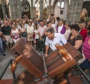 Matraca de la catedral de Santa Ana en Canarias