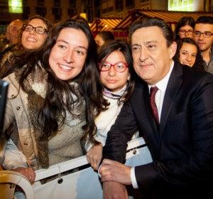 Mariano Peña con los fans en el FesTVal