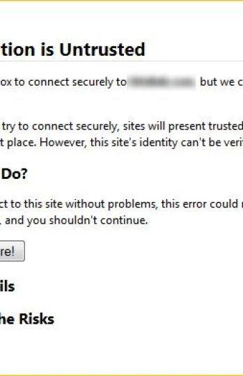 Aviso de seguridad de un navegador