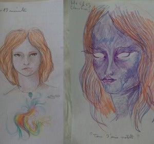 Autorretratos de una usuaria de reddit en estado normal y bajo los efectos del LSD