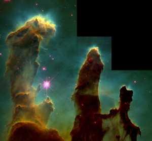 Los Pilares de la Creación captada por el Hubble el 1 de abril de 1995